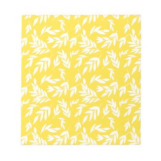 蜂蜜の黄色の花 ノートパッド