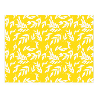 蜂蜜の黄色の花 ポストカード