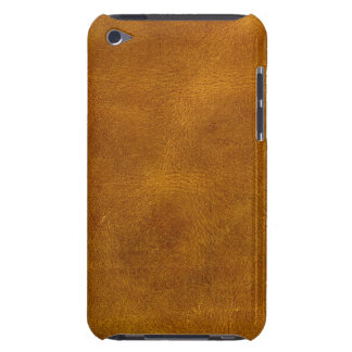蜂蜜のBuckskinの革微粒子のこはく色のマスタード Case-Mate iPod Touch ケース