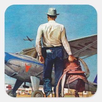 蜂蜜酒Schaefferによる飛んでいるなカウボーイ スクエアシール