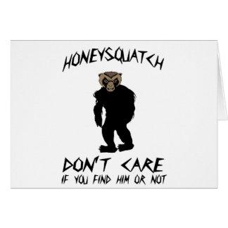 蜂蜜Squatchは気になりません カード