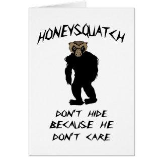 蜂蜜Squatchは隠れません カード