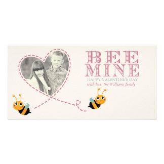 蜂鉱山のバレンタインデーの写真カード カード
