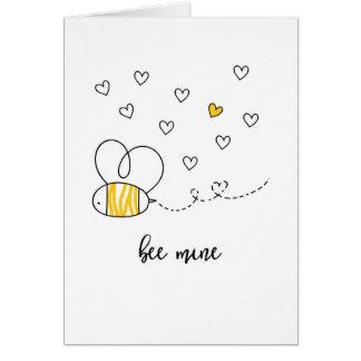 蜂鉱山の蜂蜜のバレンタインカード カード