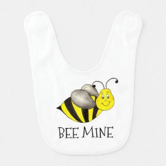 蜂鉱山の黄色の《昆虫》マルハナバチのバレンタインデーのよだれかけ ベビービブ