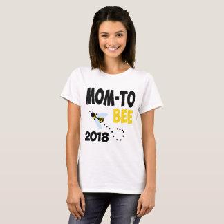 蜂2018年へのお母さん Tシャツ