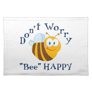 """""""蜂""""の幸せなランチョンマットを心配しないで下さい ランチョンマット"""