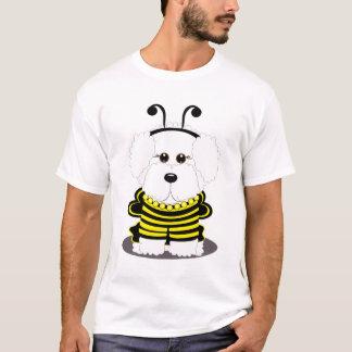 """""""蜂""""のchonのハロウィンののまわりにのBichonの子犬 Tシャツ"""