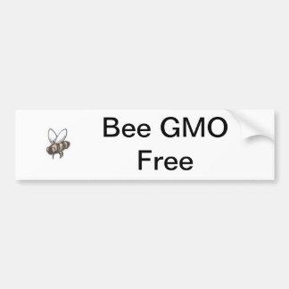 蜂GMOは放します バンパーステッカー