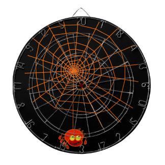 蜘蛛の巣のハロウィンの投げ矢板 ダーツボード