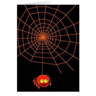 蜘蛛の巣のハロウィンカード カード