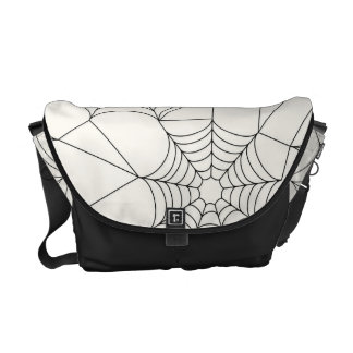 蜘蛛の巣のハロウィンパターン メッセンジャーバッグ