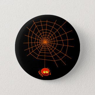 蜘蛛の巣のハロウィンボタン 5.7CM 丸型バッジ
