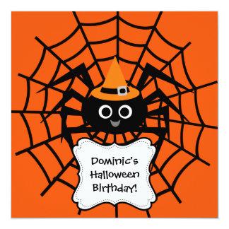 蜘蛛の巣のハローウィンパーティの招待状 カード