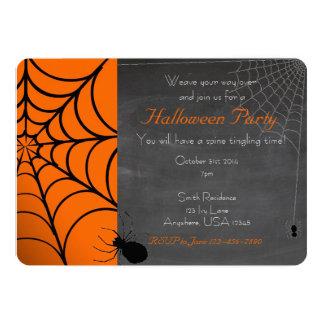 蜘蛛の巣のハローウィンパーティの招待状 12.7 X 17.8 インビテーションカード