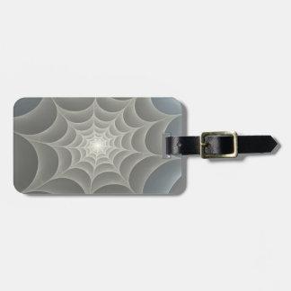 蜘蛛の巣のフラクタル ラゲッジタグ