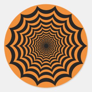 蜘蛛の巣の催眠性のハロウィンのステッカー ラウンドシール