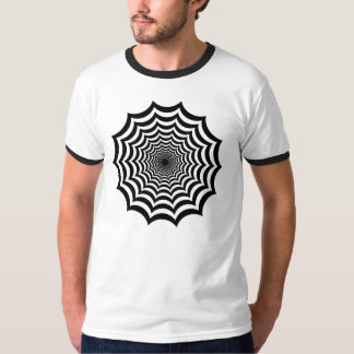 蜘蛛の巣の催眠性のTシャツ(ハロウィンのTシャツ) Tシャツ