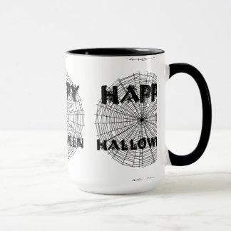 蜘蛛の巣の文字のマグのハッピーハローウィン マグカップ