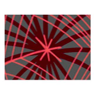 蜘蛛の巣のSpiderwebのエキゾチックなデザイン ポストカード