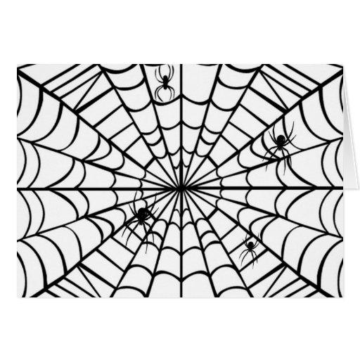 蜘蛛の巣 グリーティングカード     蜘蛛の巣 グリーティングカード