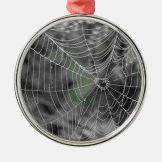 蜘蛛の巣 メタルオーナメント