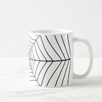 蜘蛛の巣(黒く及び白いデザイン)の~ コーヒーマグカップ