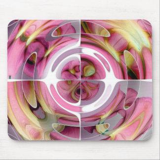 蜜柑およびバラの抽象的なコラージュ マウスパッド