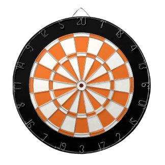 蜜柑のオレンジ白黒 ダーツボード
