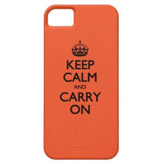 蜜柑のタンゴのKeep Calm and Carry On iPhone SE/5/5s ケース