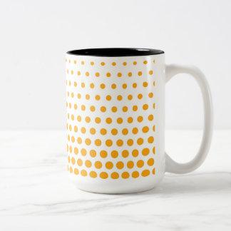 蜜柑の水玉模様のモダンな白 ツートーンマグカップ