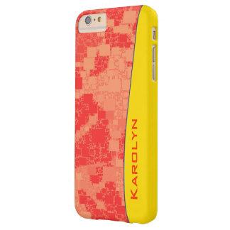 蜜柑の熱心はアートワークをタイルを張りました BARELY THERE iPhone 6 PLUS ケース
