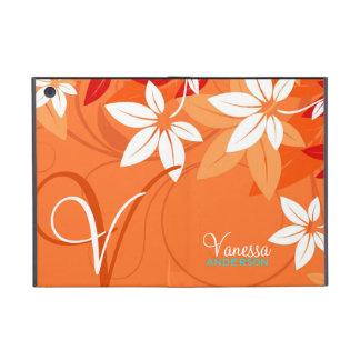 蜜柑の花のモノグラムのフォリオ iPad MINI ケース