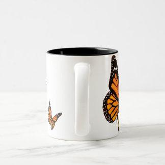蜜柑の蝶コーヒー・マグ ツートーンマグカップ
