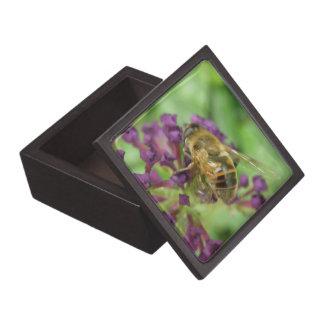 蜜蜂および紫色の花のギフト用の箱 ギフトボックス