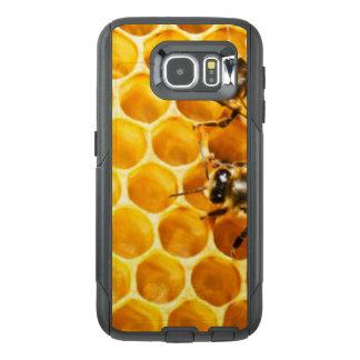 蜜蜂の巣および蜂パターンデザイン オッターボックスSamsung GALAXY S6ケース