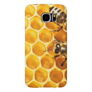 蜜蜂の巣および蜂パターンデザイン SAMSUNG GALAXY S6 ケース