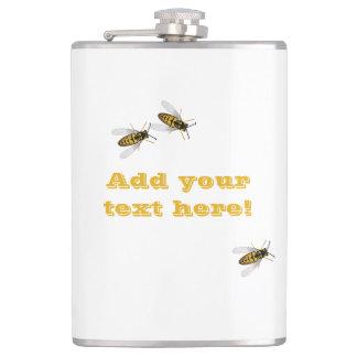 蜜蜂の巣および蜂 フラスク