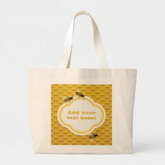 蜜蜂の巣および蜂 ラージトートバッグ
