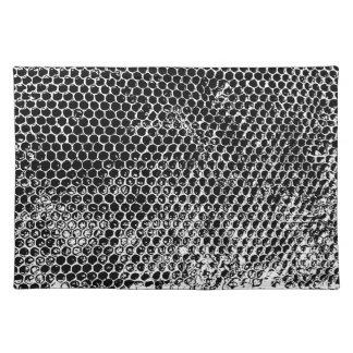 蜜蜂の巣の白黒場所マット ランチョンマット