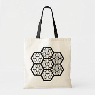 蜜蜂の巣パターンバッグ トートバッグ