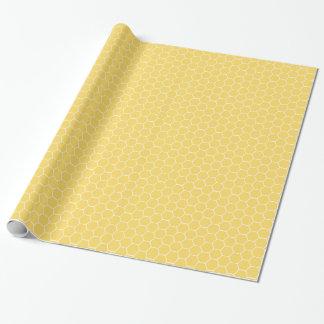 蜜蜂の巣パターン蜂のベビーシャワーのギフト用包装紙 ラッピングペーパー