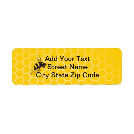蜜蜂の巣 返信用宛名ラベル