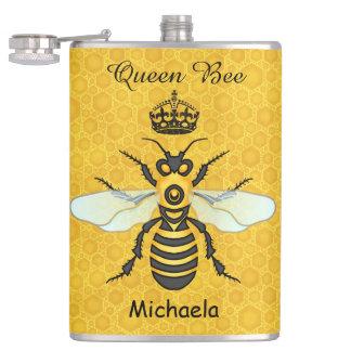蜜蜂の蜜蜂の巣の女王バチの王冠のカスタムの文字 フラスク