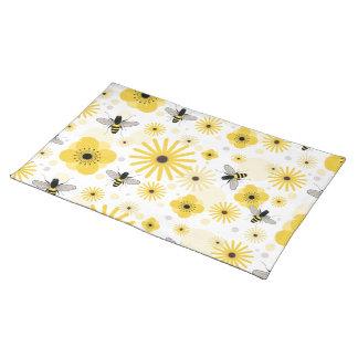 蜜蜂及び花の場所マット ランチョンマット