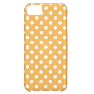 蜜蝋の水玉模様のiPhone 5の場合 iPhone5Cケース
