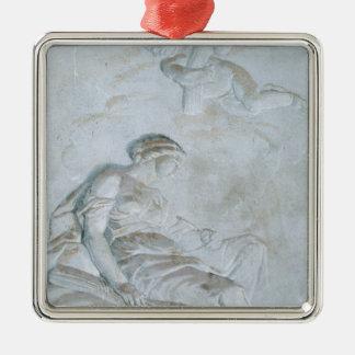 蝋布で包みます、c.1790 (フレスコ画) メタルオーナメント