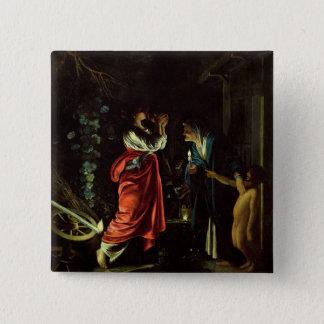 蝋布で包み、Stellio (銅の油) 5.1cm 正方形バッジ