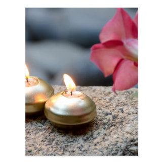 蝋燭および水 ポストカード