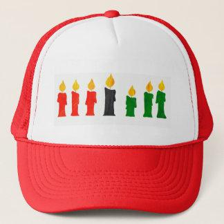 蝋燭が付いているKwanzaaのトラック運転手の帽子 キャップ